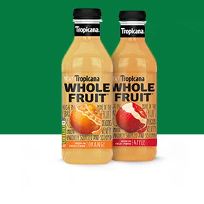 Free Tropicana Wholefruit Juice Drink with Your Online Sainsbury's Order