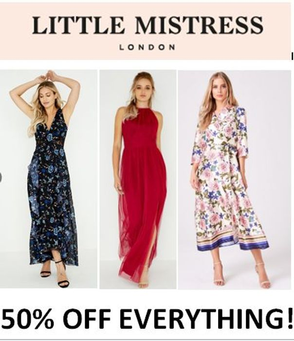 50% OFF EVERYTHING at Little Mistress - FLASH SALE