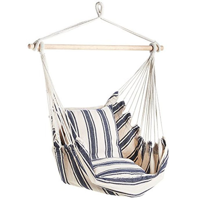 VonHaus Striped Hanging Chair with Free Delivery