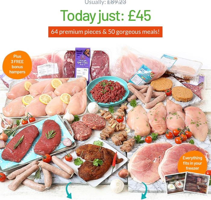Buy One Hamper + Get Three Meat Hampers for FREE!
