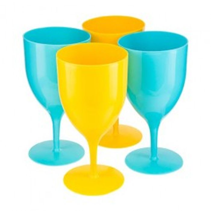 4pk Plastic Wine Glasses