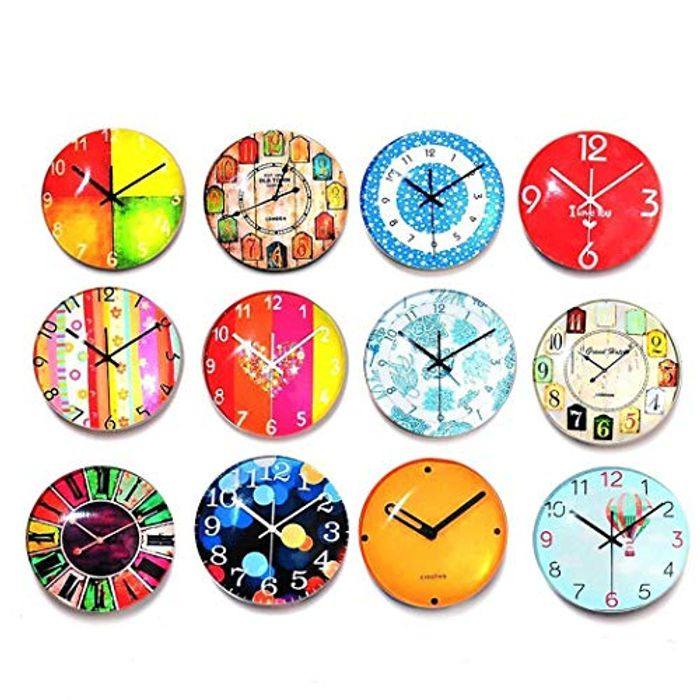 12 Pcs Clock Fridge Stickers 70% off + Free Delivery
