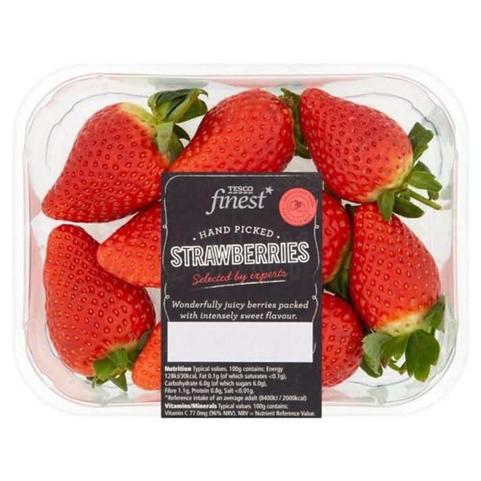 Tesco Finest Strawberries / Tesco Finest Raspberries Any 2 Packs for Just £3