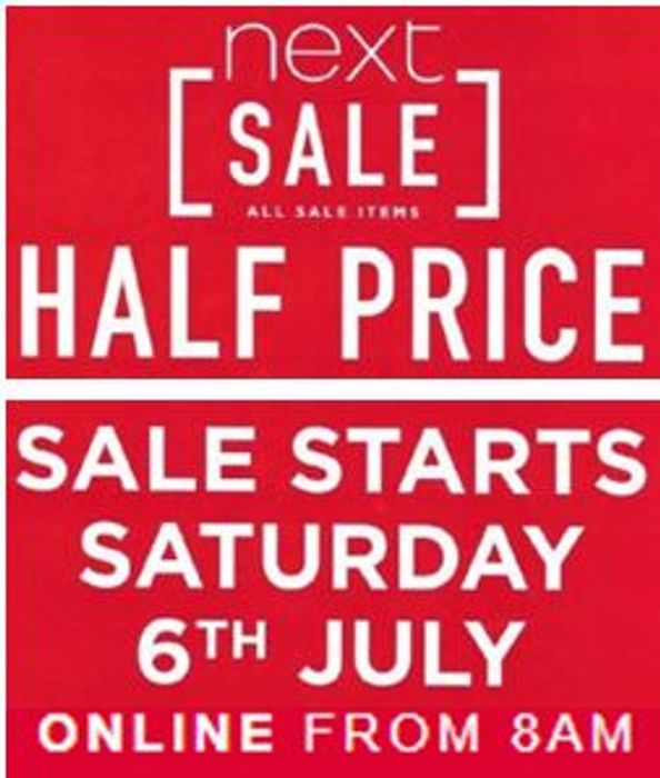 NEXT SALE - STARTS SATURDAY 6th JULY