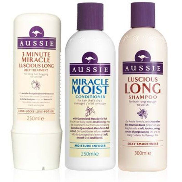 Half Price! Aussie Shampoos, Conditioners and Miracle Moist Treatment