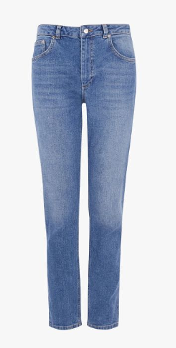 Warehouse Skinny Cut Jeans, Blue Denim