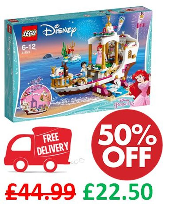 LEGO DISNEY Princess Ariel's Royal Celebration Boat ***5 STARS*** FREE DELIVERY