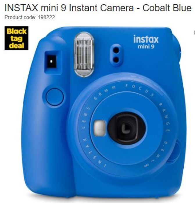 INSTAX Mini 9 Instant Camera - Cobalt Blue (10 Shots Included)
