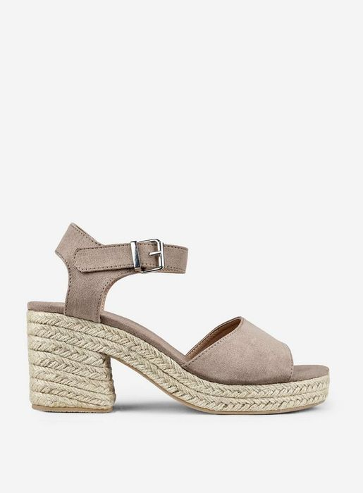 Taupe 'Rollo' Espadrille Wedges Was £30.00 Now £17.00