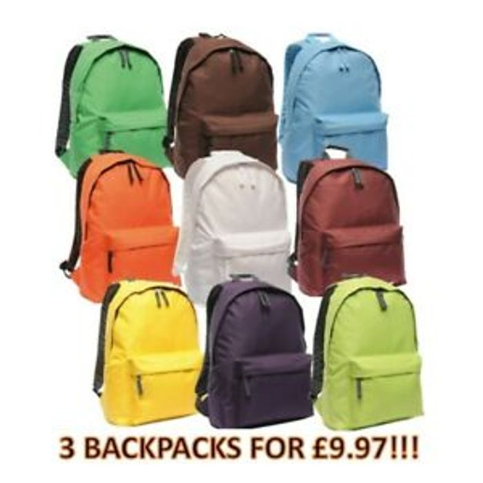 3 X Regatta Backpacks £9.97