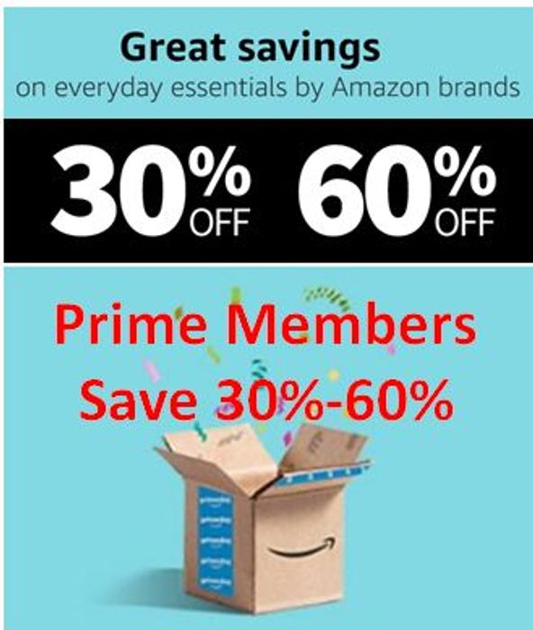 30% - 60% off - Daily Essentials by AMAZON BRANDS - for PRIME MEMBERS