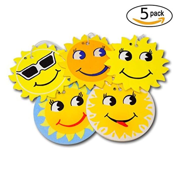 5 Pk Sun Design Car Air Fresheners - 5 Scent Variety Pack