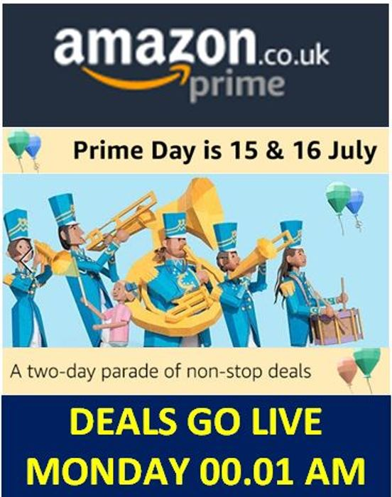 AMAZON PRIME DAY DEALS LIVE FROM MIDNIGHT SUNDAY 14th JULY! Early deals now!