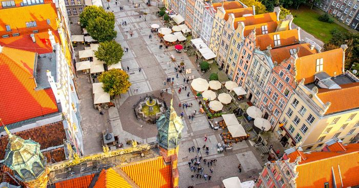 Flights to Gdansk Poland £18 Return from London