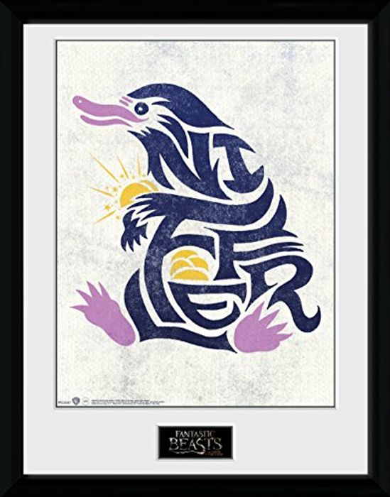 Harry Potter Fantastic Beasts Niffler Graphic Framed Print - 33 X 44 X 3 Cm