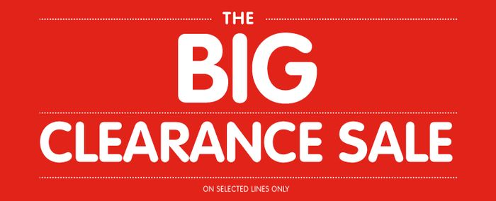 CLEARANCE SALE AT B@M