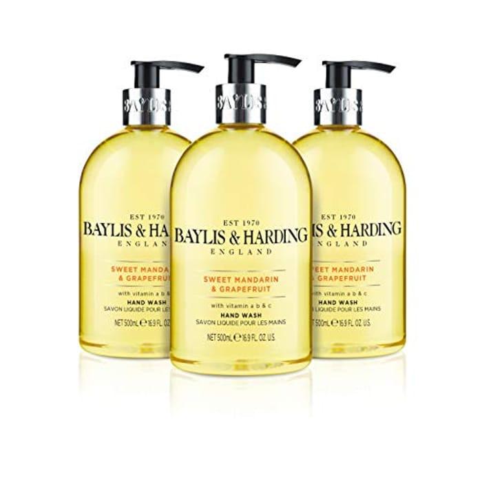 Baylis & Harding Sweet Mandarin & Grapefruit Hand Wash (Pack of 3)