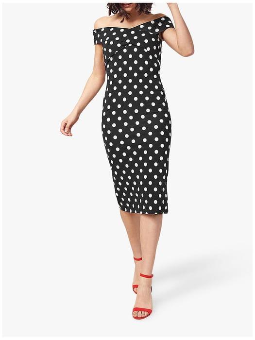 Oasis Spot Bardot Dress
