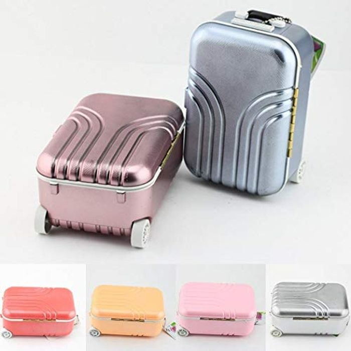 Mini Suitcase Music Box Jewelry Case 80% off + Free Delivery