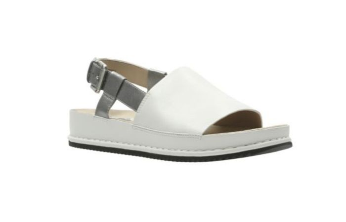 Alderlake May, White Leather Sandals