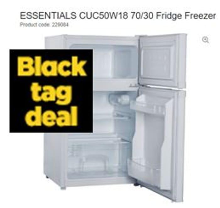 SAVE £30 ESSENTIALS 70/30 Fridge Freezer + FREE DELIVERY