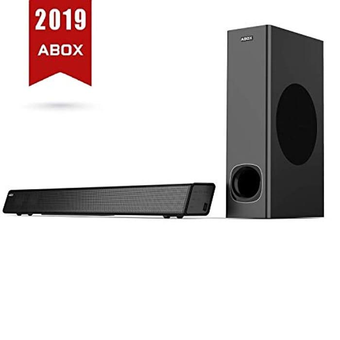 ABOX 2.1 Channel Soundbar & Subwoofer 120W Bluetooth 4.2