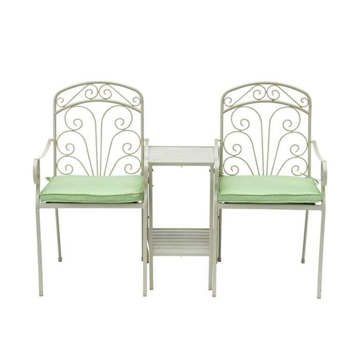 Argos Home Jasmine Metal Duo Love Seat With Cushions 51 99 Latestdeals Co Uk