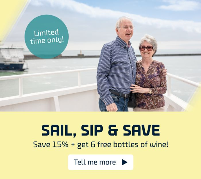 DFDS - save 15% & Get 6 Free Bottles of Wine!