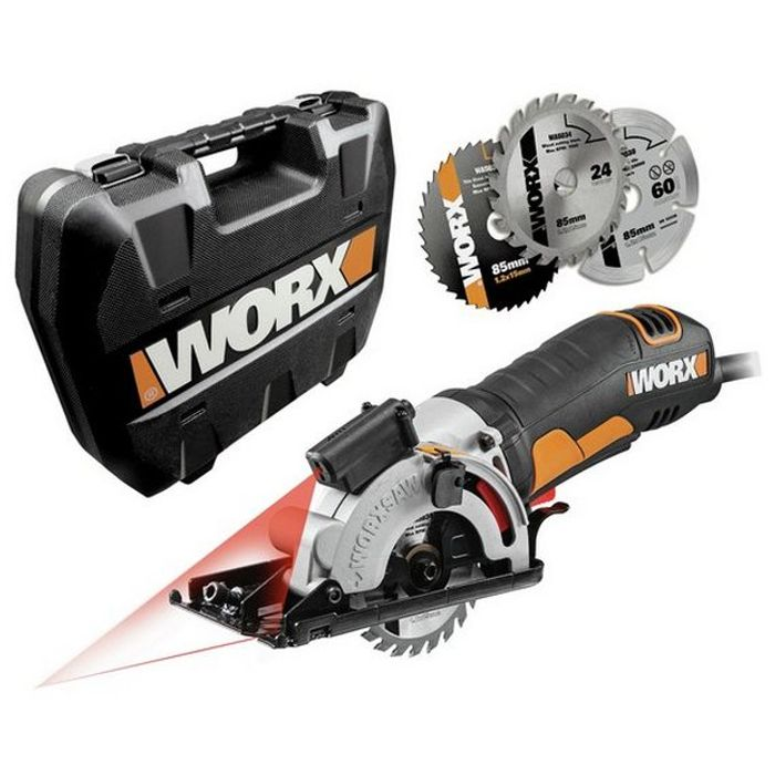 WORX WX426 Worxsaw 400W 85mm Compact Circular Saw at Argos