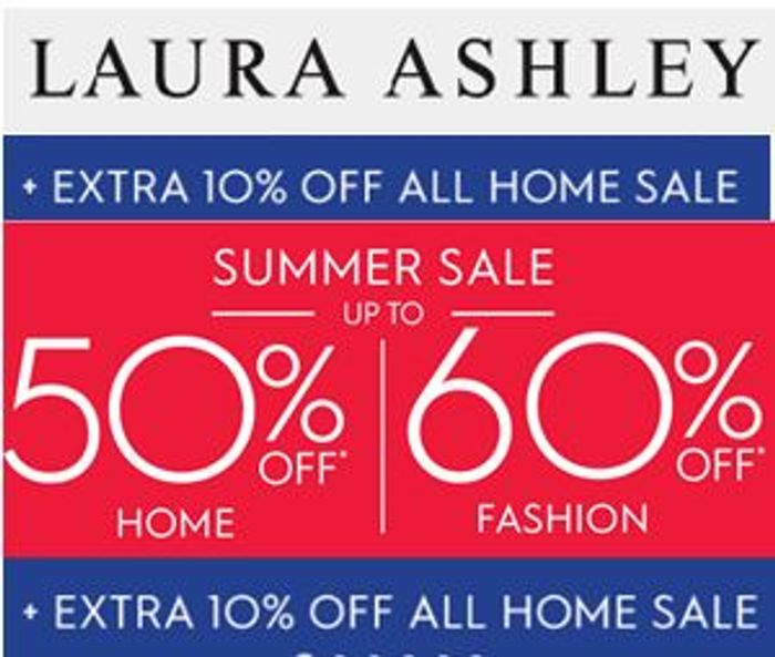 Laura Ashley HOME SALE - 50% off + EXTRA 10% OFF
