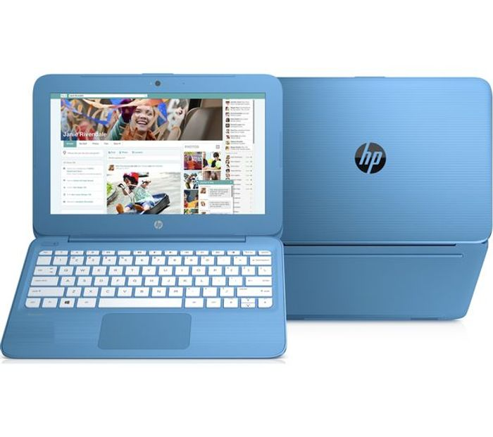 "HP Stream 11 11.6"" Intel Celeron Laptop - 32 GB eMMC, Blue"