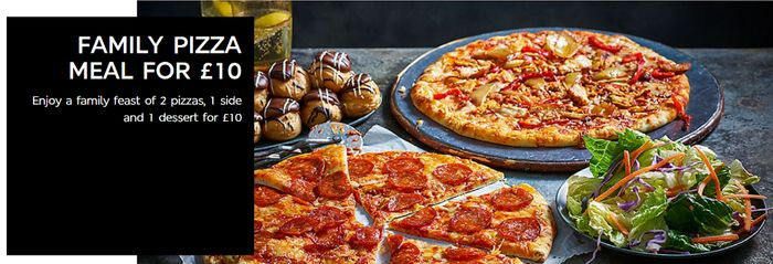 M&S Family Pizza Meal - 2 Pizzas, a Side and a Dessert for £10