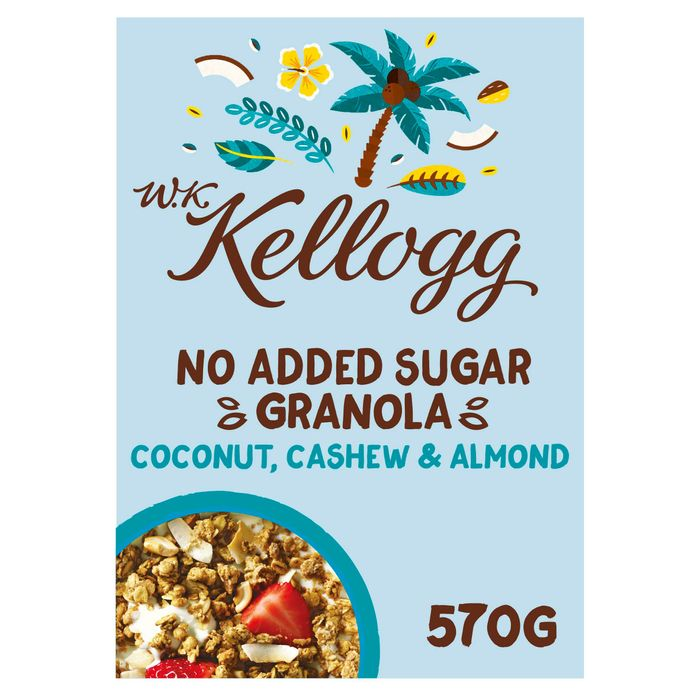 Wk Kellogg's No Added Sugar Coconut Granola 570G