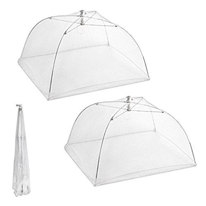 BestMall Food Cover Net Tents, White - FREE DELIVERY