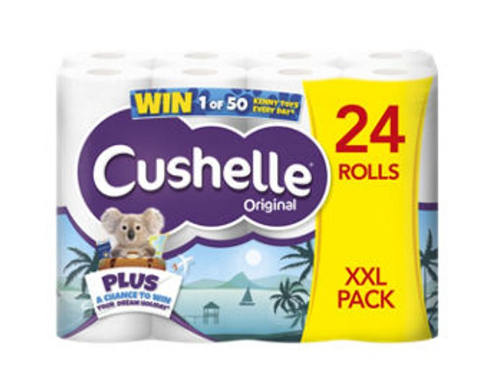 Cushelle XXL White Toilet Roll 24 Rolls