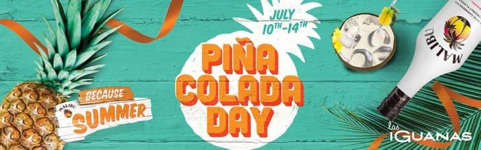 Free Pina Colada at Las Iguanas 10-14 July