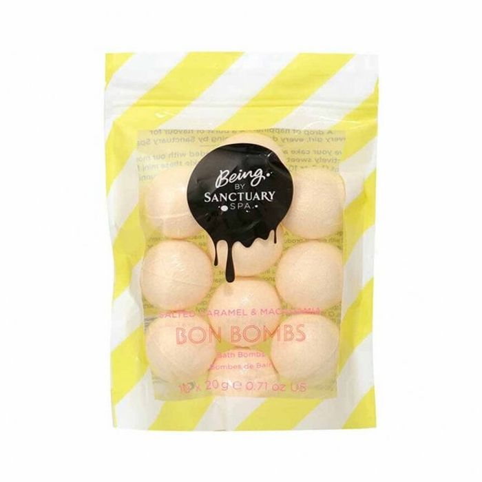 SANCTUARY SPA Being Caramel & Macadamia Bon Bath Bombs save 75%