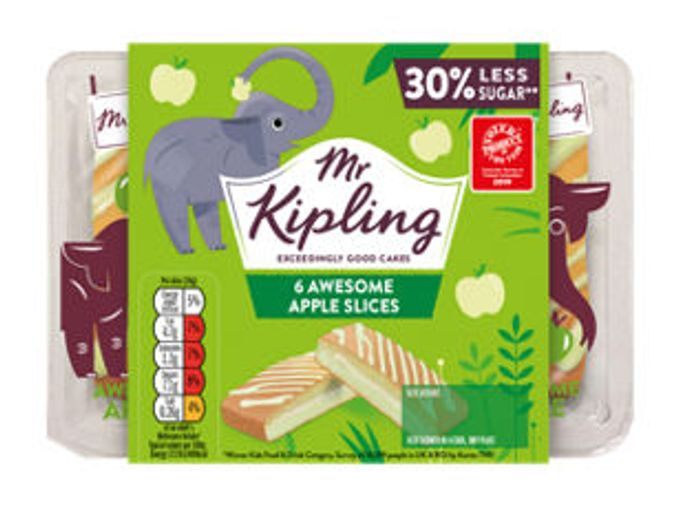 Mr Kipling 6 Awesome Apple / Strawberry/Chocolate Angel Slices