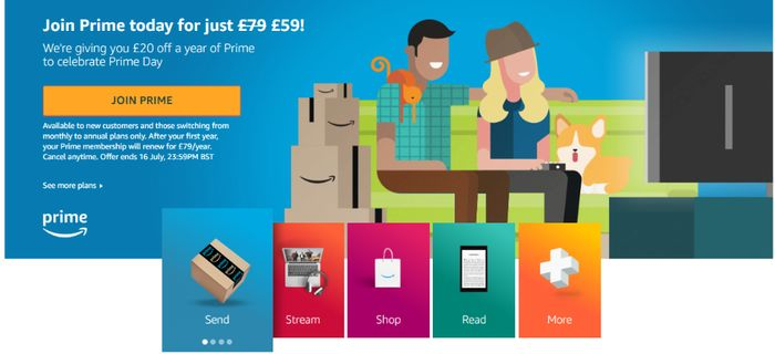 Amazon Prime for £59 Instead of £79 for New or Switching Customers