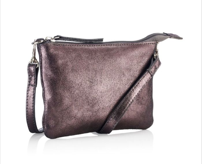 Crossbody Pouch - Pewter Down From £30 to £9