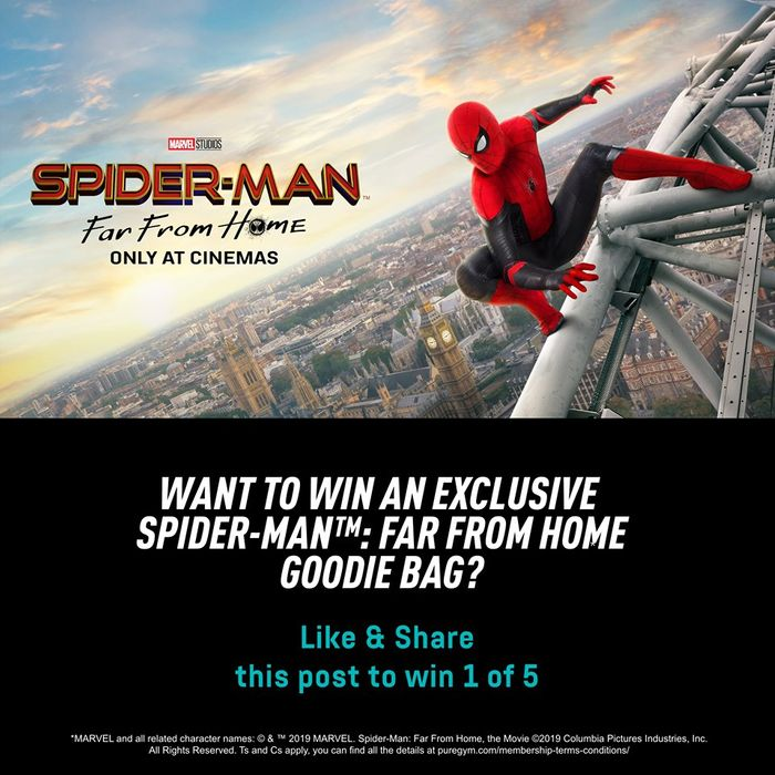 Win an exclusive Spider Man: Far from Home goodie bag