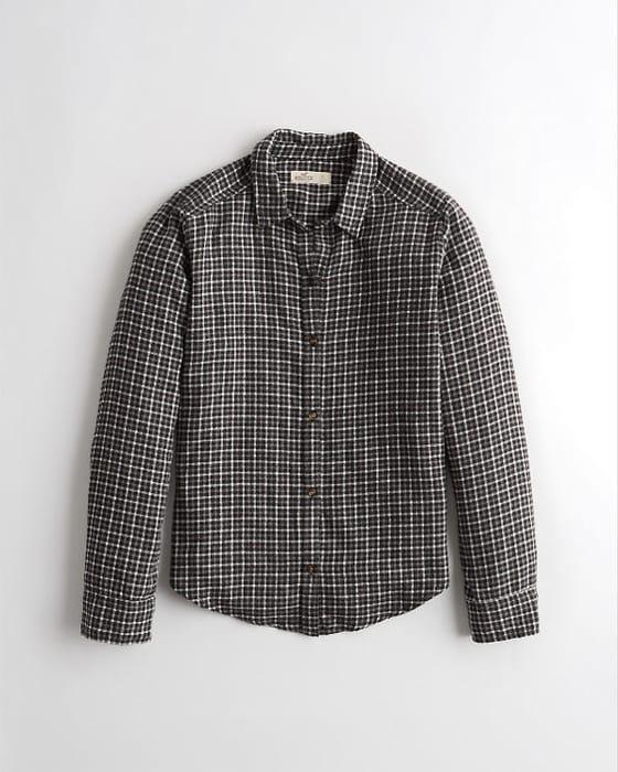 Hollister Plaid Flannel Shirt