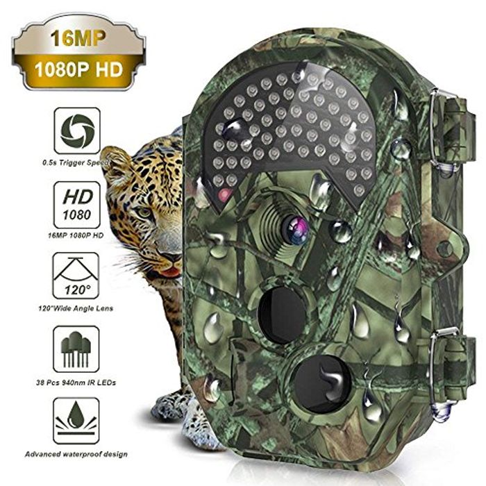 Deal Stack-THZY Trail Camera, Waterproof 16MP 1080P HD Game Hunting Camera