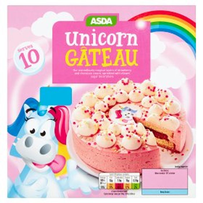 ASDA Unicorn Gateau Only £3