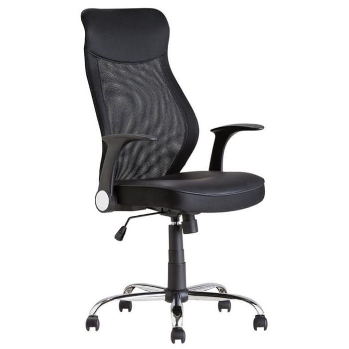 Argos Home Deluxe Mesh Back Chair - Black
