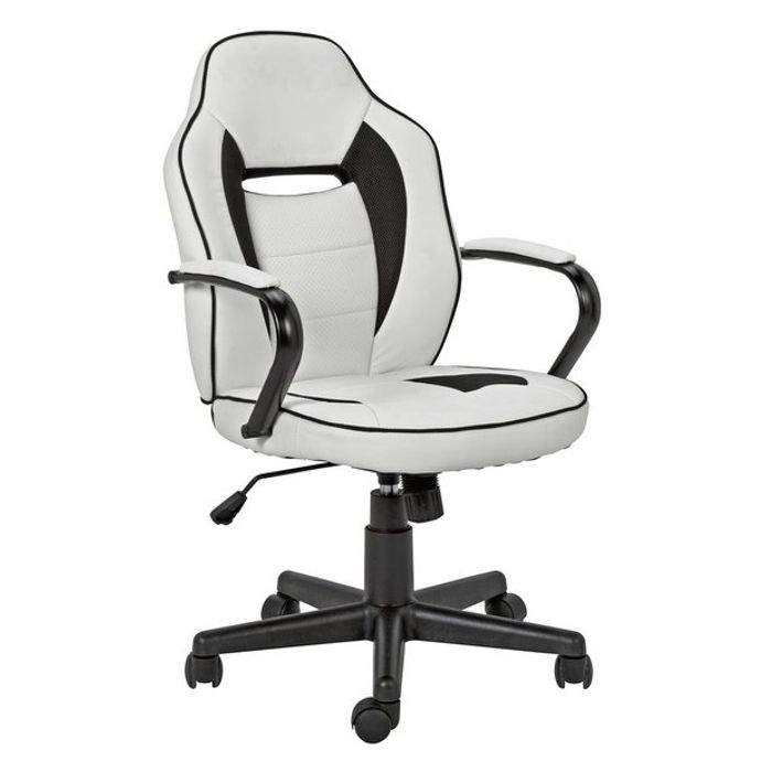 Argos Home mid Back Gaming Chair - White & Black
