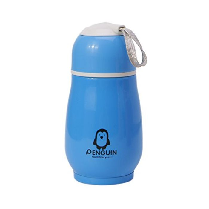 Hergon 1Pc Lovely Penguin Thermos Bottle - Blue FREE DELIVERY