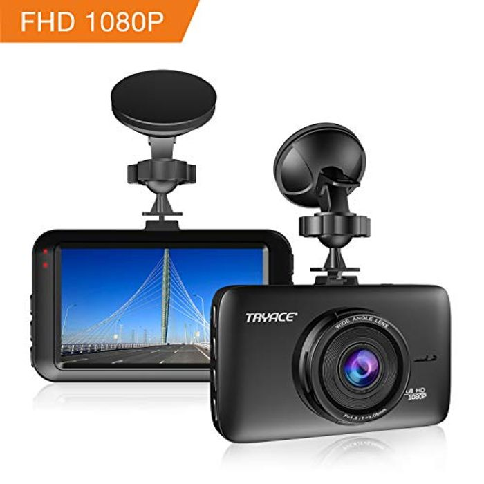 TryAce Dash Cam Full FHD 1080P Car Camera - save 50%