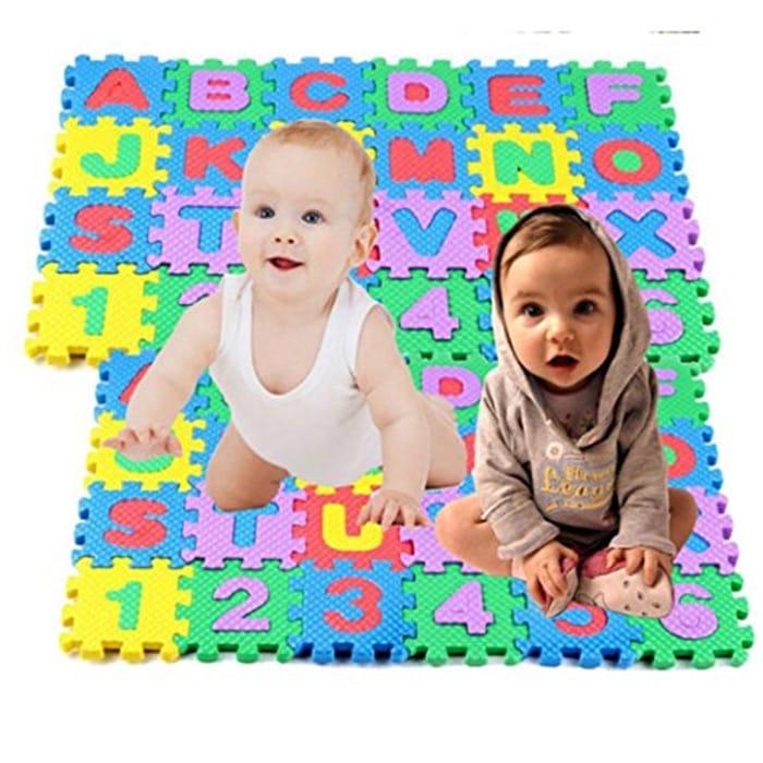 Pongaps 36PCS Baby Kids Alphanumeric Educational Puzzle Toy Gift