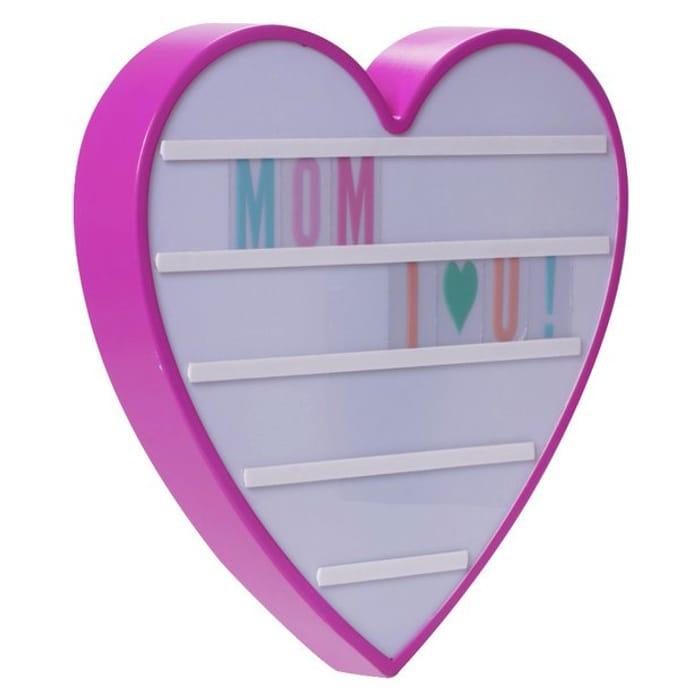 Pretty Pink Light up Love Heart